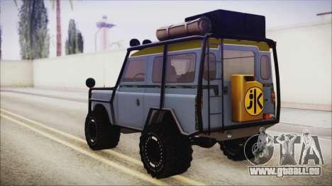 Land Rover Series 3 Off-Road pour GTA San Andreas laissé vue