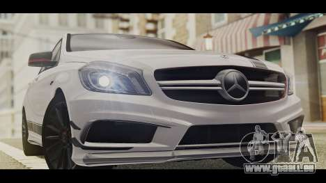 Mercedes-Benz A45 AMG Edition 1 pour GTA San Andreas sur la vue arrière gauche