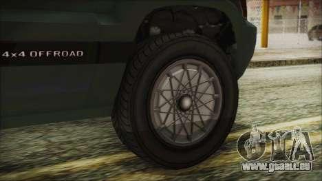GTA 5 Canis Seminole pour GTA San Andreas sur la vue arrière gauche