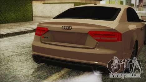 Audi RS5 pour GTA San Andreas vue arrière