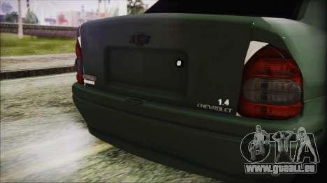Chevrolet Corsa pour GTA San Andreas vue arrière