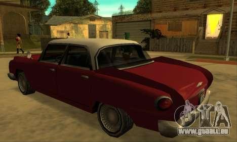 Oceanic Glendale 1961 pour GTA San Andreas sur la vue arrière gauche