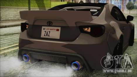 Toyota GT86 Rocket Bunny Tunable IVF für GTA San Andreas obere Ansicht