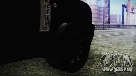 Range Rover Sport pour GTA San Andreas sur la vue arrière gauche