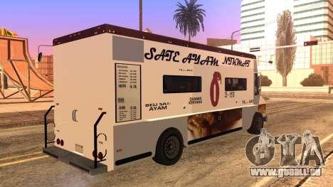 Sate Ayam (Chicken Satay) Van pour GTA San Andreas laissé vue