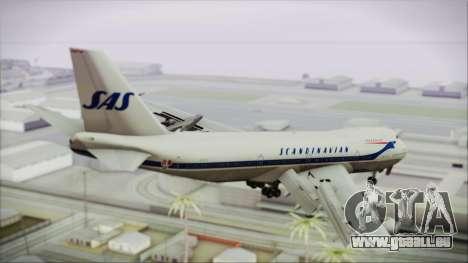 Boeing 747-283BM Scandinavian Airlines für GTA San Andreas linke Ansicht