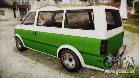 GTA 5 Declasse Moonbeam für GTA San Andreas linke Ansicht