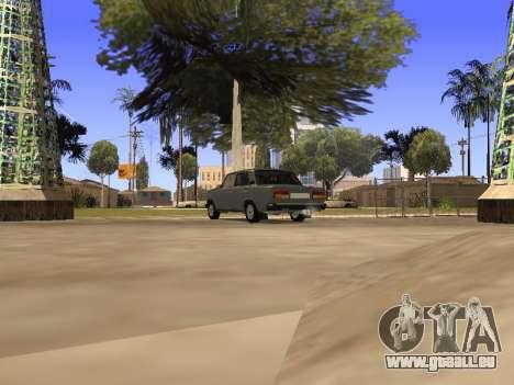 Principauté VAZ 2107 San v0.3 pour GTA San Andreas sur la vue arrière gauche