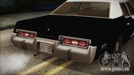 Dodge Monaco 1974 LSPD IVF pour GTA San Andreas vue intérieure