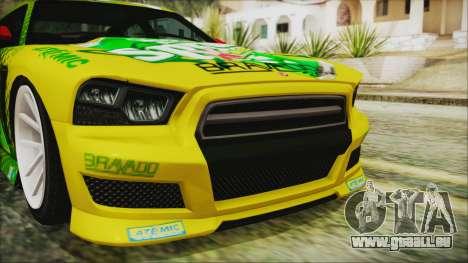 GTA 5 Bravado Buffalo Sprunk für GTA San Andreas Rückansicht