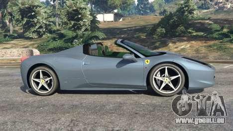 Ferrari 458 Spider 2012 pour GTA 5