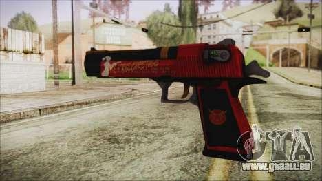Xmas Desert Eagle pour GTA San Andreas deuxième écran