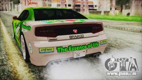 GTA 5 Bravado Buffalo Sprunk für GTA San Andreas Seitenansicht