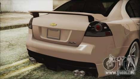 Chevrolet Lumina 2009 für GTA San Andreas Rückansicht
