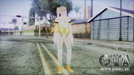 DoA5 LR Marie Rose Schoolgirl Striker Blonde pour GTA San Andreas deuxième écran
