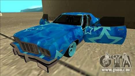 Ford Gran Torino Drift Blue Star für GTA San Andreas Seitenansicht
