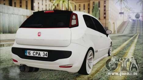 Fiat Punto pour GTA San Andreas laissé vue