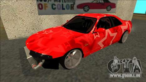Nissan Skyline R33 Drift Red Star für GTA San Andreas