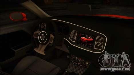 Dodge Challenger SRT 2015 Hellcat General Lee pour GTA San Andreas vue arrière