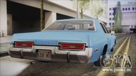 Dodge Monaco 1974 Civilian pour GTA San Andreas laissé vue