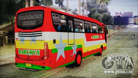 Bus Pt.BARUMUN Sibuhuan für GTA San Andreas linke Ansicht