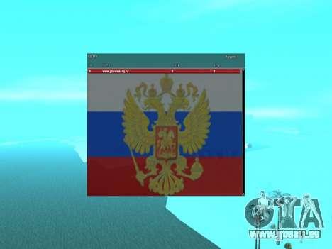 SampGui Flagge von Russland mit Wappen für GTA San Andreas
