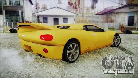 Gangsta Infernus für GTA San Andreas zurück linke Ansicht