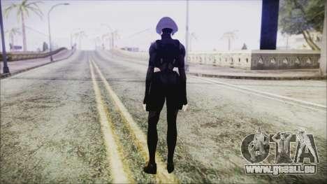 Black Hair Domino from Deadpool pour GTA San Andreas troisième écran