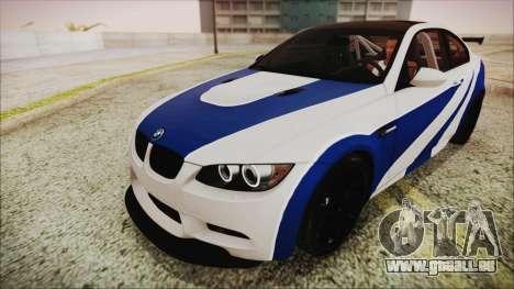 BMW M3 GTS 2011 IVF pour GTA San Andreas vue de dessous