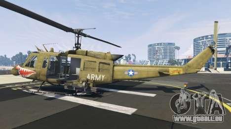 Bell UH-1D Iroquois Huey Gunship pour GTA 5