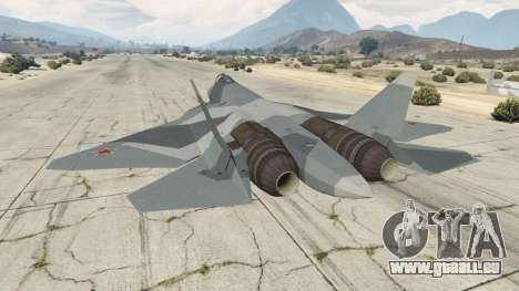 GTA 5 T-50 PAK FA v0.02 dritten Screenshot
