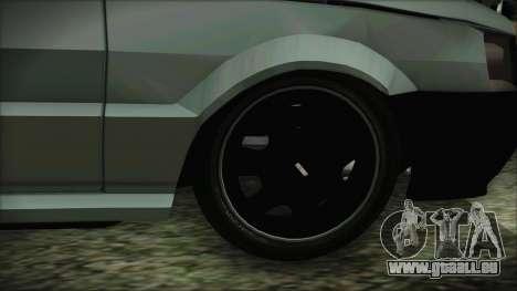 Fiat Uno Fire Tuning pour GTA San Andreas sur la vue arrière gauche