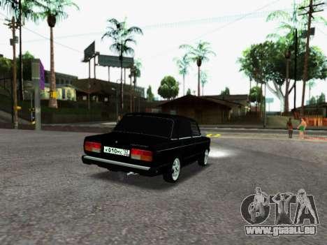 VAZ 2107-107 pour GTA San Andreas sur la vue arrière gauche