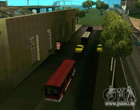 Les véhicules en stationnement pour GTA San Andreas quatrième écran