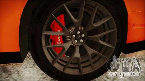 Dodge Challenger SRT 2015 Hellcat General Lee pour GTA San Andreas vue de droite