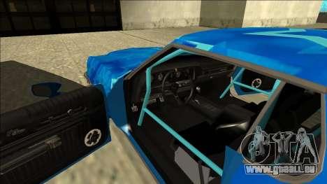 Ford Gran Torino Drift Blue Star pour GTA San Andreas vue intérieure