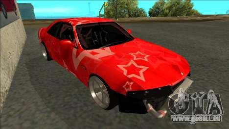 Nissan Skyline R33 Drift Red Star für GTA San Andreas linke Ansicht