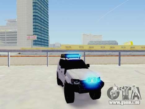 Toyota Land Cruiser Prado off-road LED für GTA San Andreas rechten Ansicht