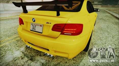 BMW M3 GTS 2011 IVF pour GTA San Andreas vue de dessus