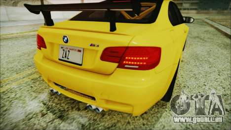 BMW M3 GTS 2011 IVF für GTA San Andreas obere Ansicht