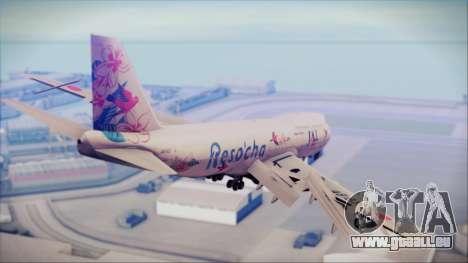 Boeing 747-300 Japan Airlines Resocha für GTA San Andreas linke Ansicht
