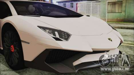 Lamborghini Aventador SV 2015 für GTA San Andreas Rückansicht