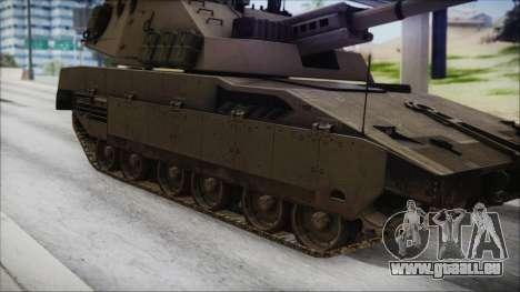 M4 Scorcher Self Propelled Artillery für GTA San Andreas zurück linke Ansicht
