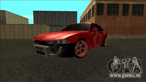 Nissan Silvia S14 Drift Red Star für GTA San Andreas Seitenansicht