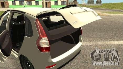 Lada Kalina 2 - Granta pour GTA San Andreas vue intérieure