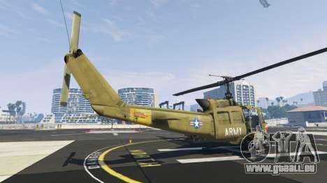 GTA 5 Bell UH-1D Iroquois Huey Gunship dritten Screenshot