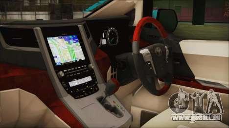 Toyota Alphard Hatsune Miku pour GTA San Andreas vue de droite