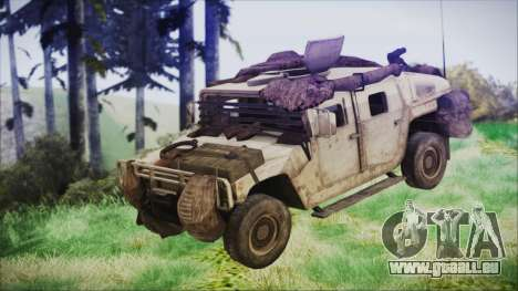 Humvee from Spec Ops The Line pour GTA San Andreas vue de droite