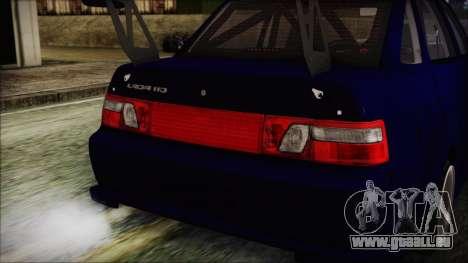 VAZ 2110 Sport pour GTA San Andreas vue intérieure