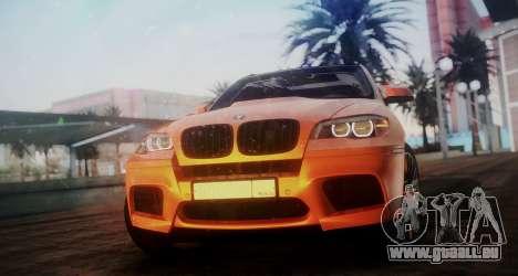 BMW X5M SMOTRA.GT pour GTA San Andreas sur la vue arrière gauche